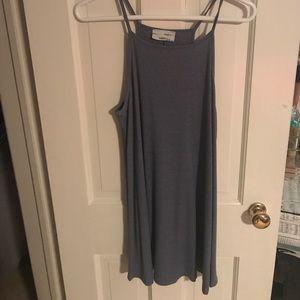 Audrey 3+1 Dresses - Blue high neck summer dress